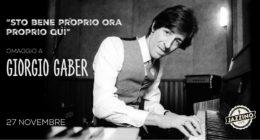 """""""Sto Bene, Proprio Ora, Proprio Qui"""" – Giorgio Gaber – Live at Jazzino"""