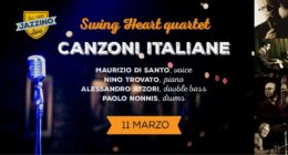 "Swing Heart 4Tet – ""Canzoni Italiane"" – Live at Jazzino"
